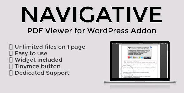 Navigative - PDF Viewer for WordPress addon - CodeCanyon Item for Sale