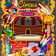 Circus Carnival Invite Theme Park Poster Tent Vector Illustration - GraphicRiver Item for Sale