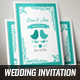 Birds Elegant Wedding Invitation & Post Card - GraphicRiver Item for Sale