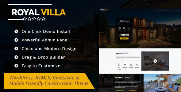 RoyalVilla – WordPress Theme for Single Property
