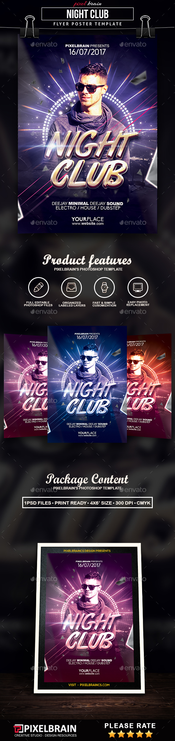 Night Club Party Flyer Template - Clubs & Parties Events