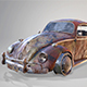 Rusty Volkswagen Beetle - 3DOcean Item for Sale