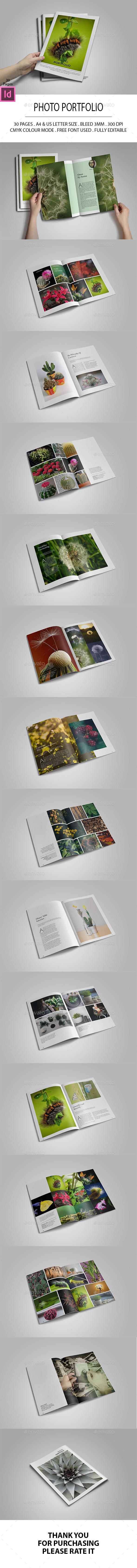 Photo Portfolio - Photo Albums Print Templates