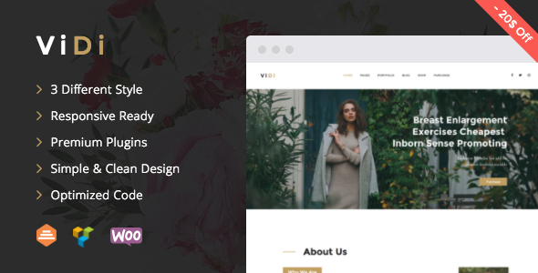 ViDi – Multi-Purpose Creative Portfolio WordPress Theme
