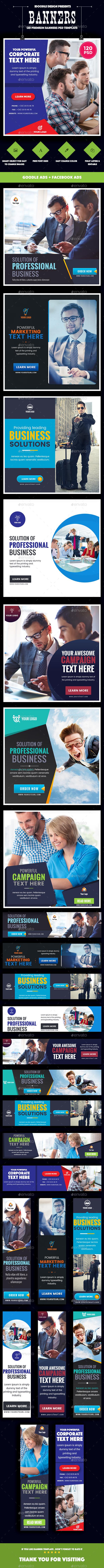 [Special Bundle] - Multipurpose Banner Ads - 120 PSD [08 Sets] - Banners & Ads Web Elements