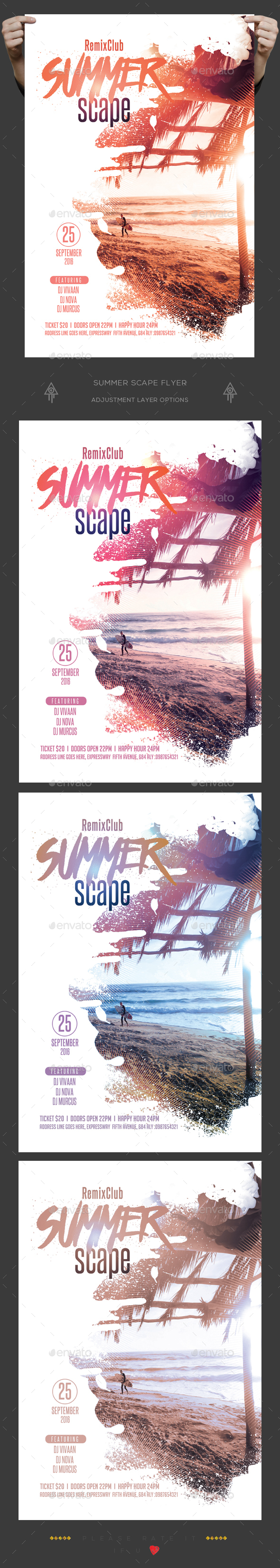 Summer Scape Flyer - Clubs & Parties Events