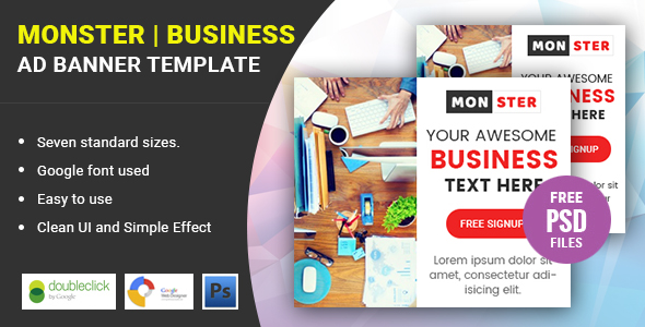 Monster business html 5 google banner by dzineffort codecanyon monster business html 5 google banner codecanyon item for sale flashek Image collections