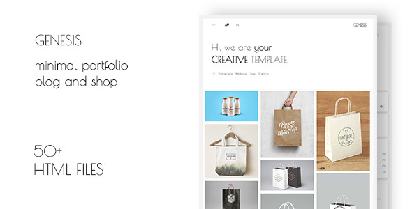 Genesis – Minimal Multi-Purpose Portfolio Blog Shop