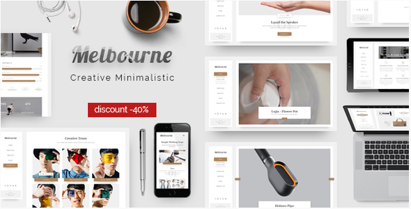 Melbourne – Responsive Minimal HTML Template