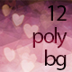 Valentine Hearts Polygonal Backgrounds - GraphicRiver Item for Sale