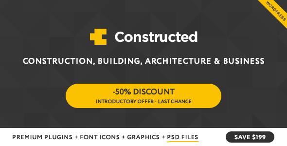 Constructed – Construction WordPress Theme