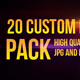 20 Custom Lens Flares Pack - GraphicRiver Item for Sale