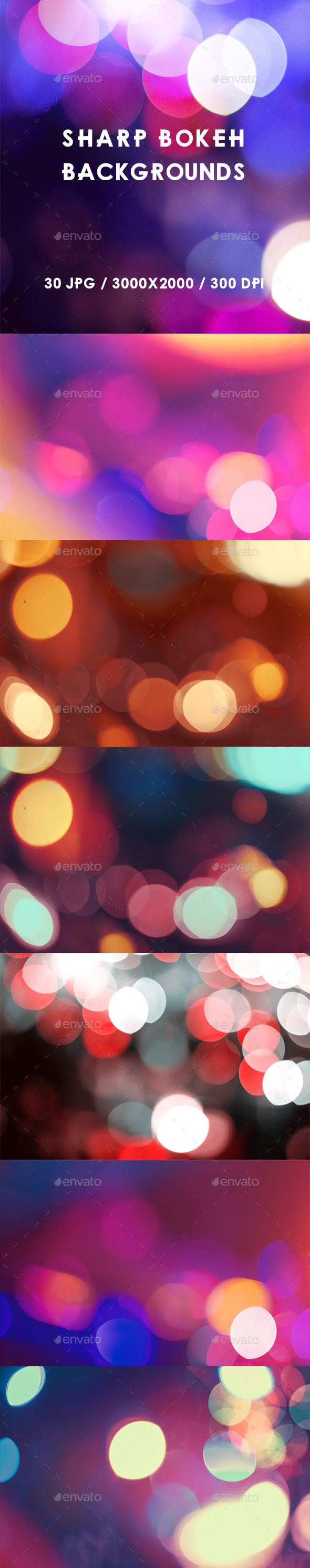 50 Sharp Bokeh Backgrounds - Abstract Backgrounds