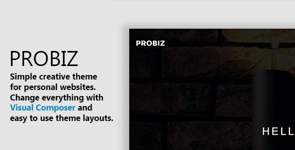 Probiz – Minimal WordPress Personal Portfolio Theme