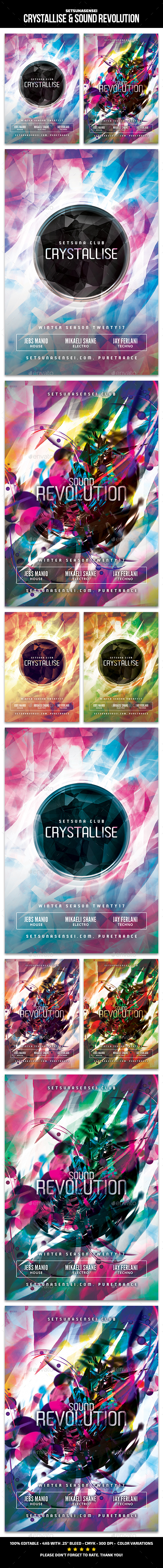 Crystallise & Sound Revolution - Clubs & Parties Events