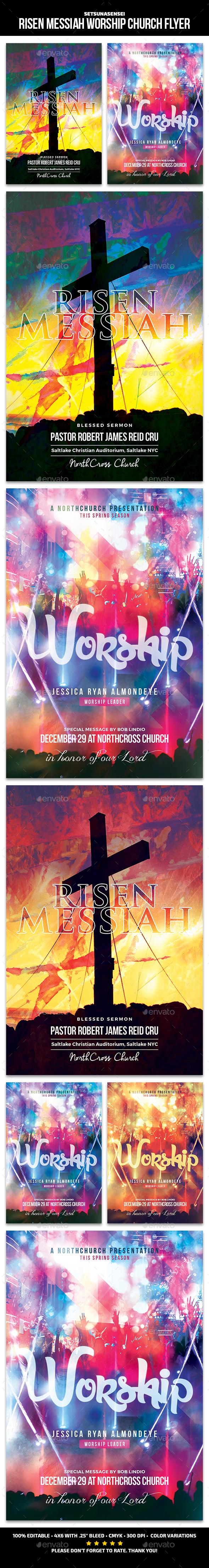 Risen Messiah Church Flyer - Church Flyers