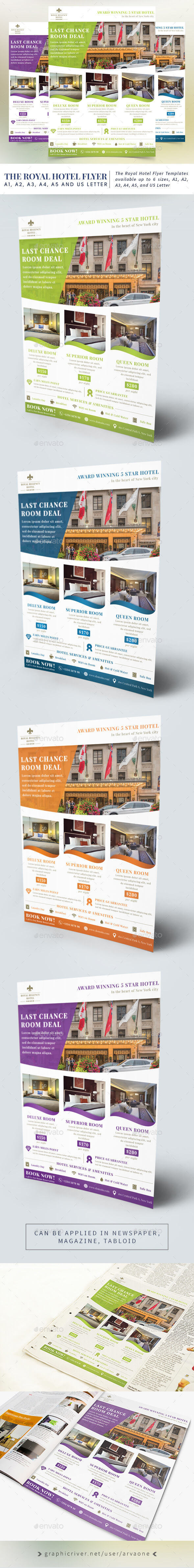 The Royal Hotel Flyer Templates - Commerce Flyers