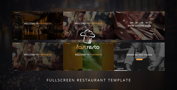 Fastresto Fullscreen Restaurant Template - Restaurants & Cafes Entertainment
