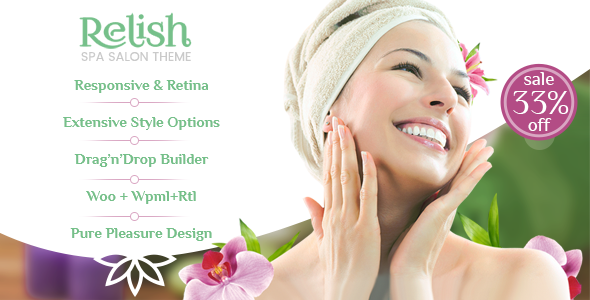 Relish – Spa Salon WordPress Theme