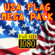 3D Flag Pack USA - VideoHive Item for Sale