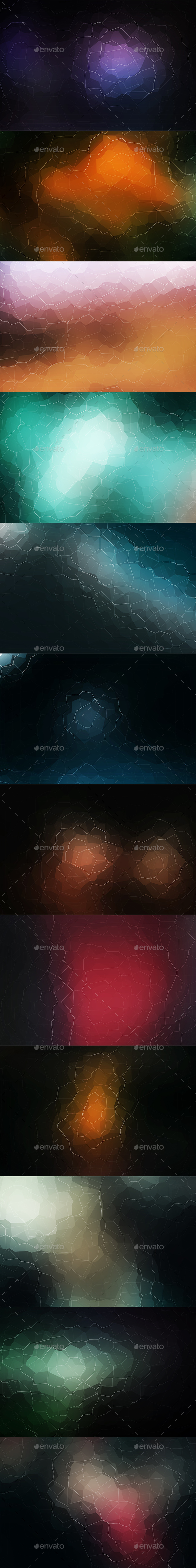 Crystallized Backgrounds Vol 9 - Abstract Backgrounds