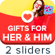 Gifts For Her & Him Sliders - GraphicRiver Item for Sale