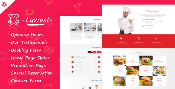 Luxrest – Restaurant & Cafe Theme