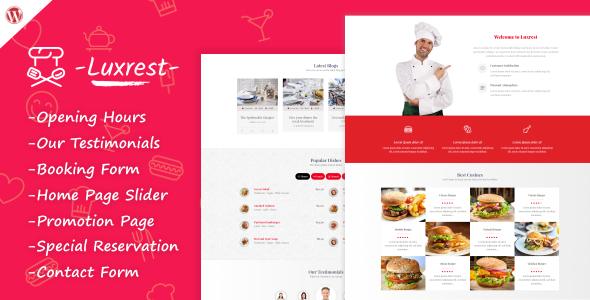 Luxrest – Restaurant & Cafe Theme