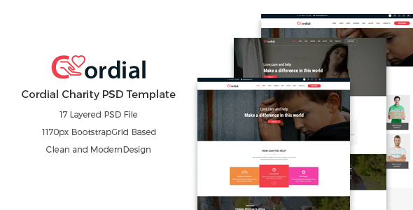 Cordial – Charity PSD Template