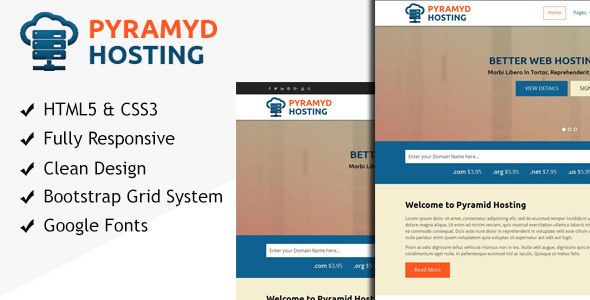 Pyramyd Hosting – Responsive Web Hosting HTML Template