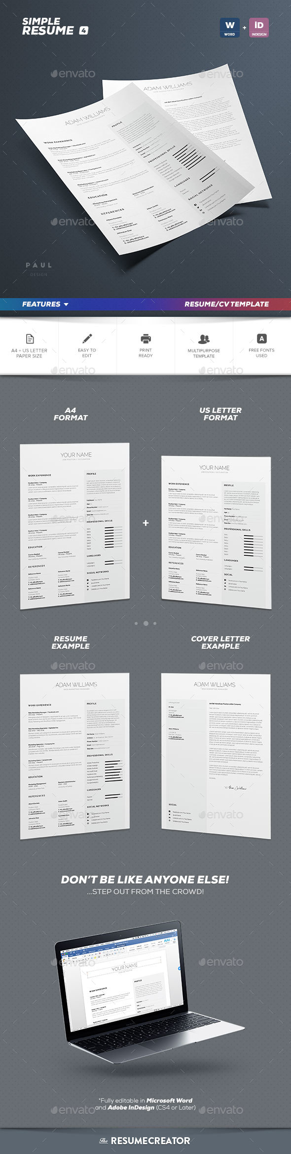 Simple Resume/Cv Volume 4