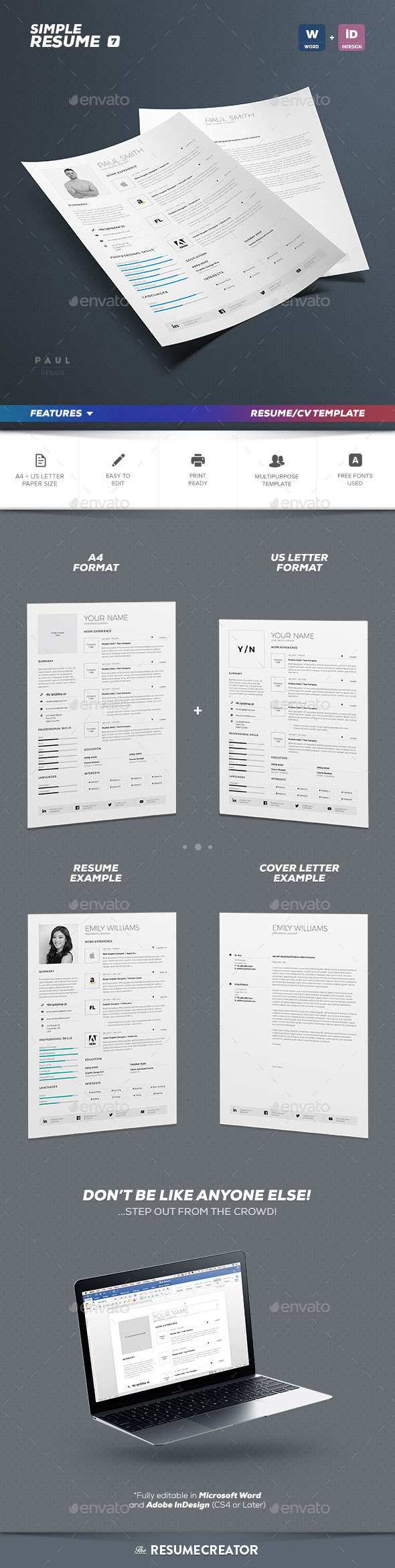 indesign resume template graphics designs templates - Resume Templates Indesign