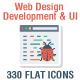 330 Web Design Development & UI  Paper icons - GraphicRiver Item for Sale