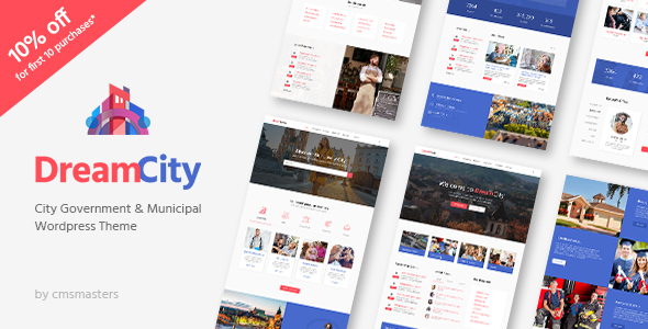 Dream City – City Portal & Government Municipal WordPress Theme