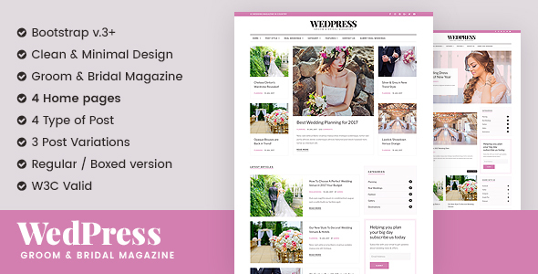 WedPress – Wedding Magazine Website Template