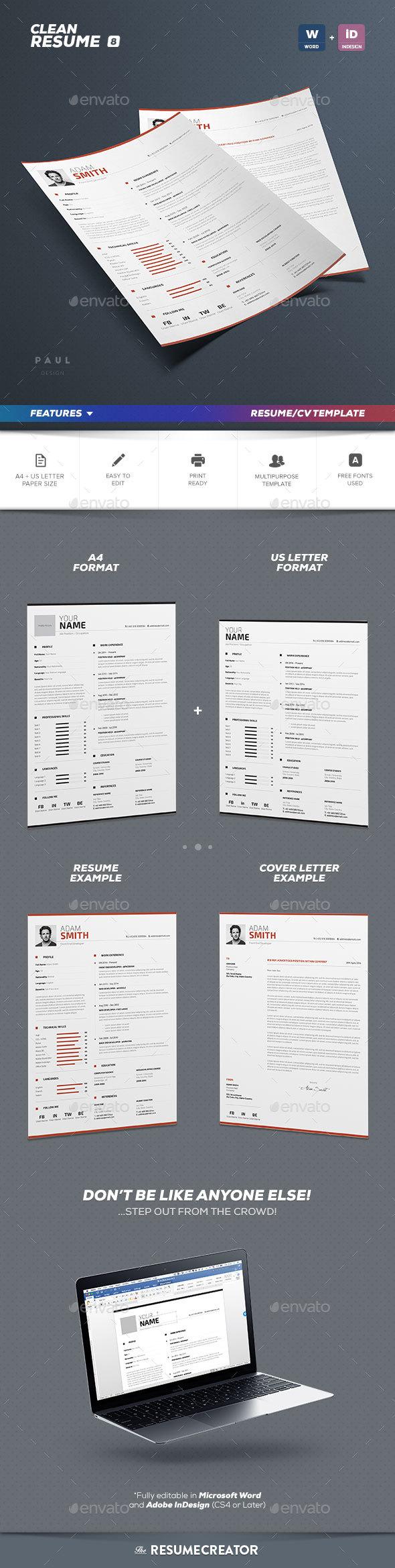 Clean Resume Vol. 8