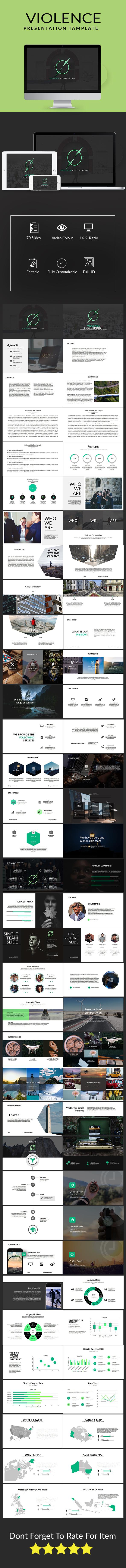 Violence Keynote Multipurpose Template - Keynote Templates Presentation Templates