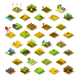 Isometric Building Farm 3D Icon Collection Vector Illustration - GraphicRiver Item for Sale