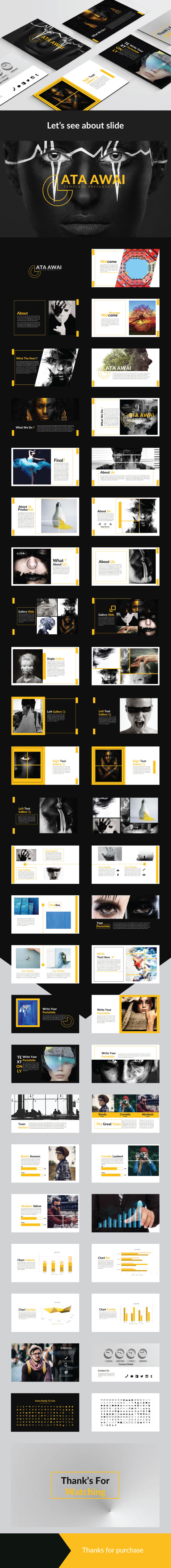 Ata Awai Presentation Keynote Template - Creative Keynote Templates
