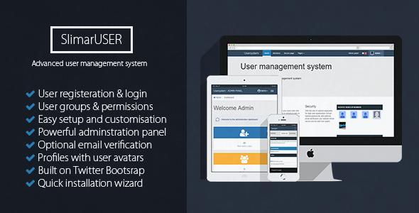 SlimarUSER - PHP User management - CodeCanyon Item for Sale