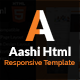 Aashi Multipurpose Responsive HTML Template - ThemeForest Item for Sale