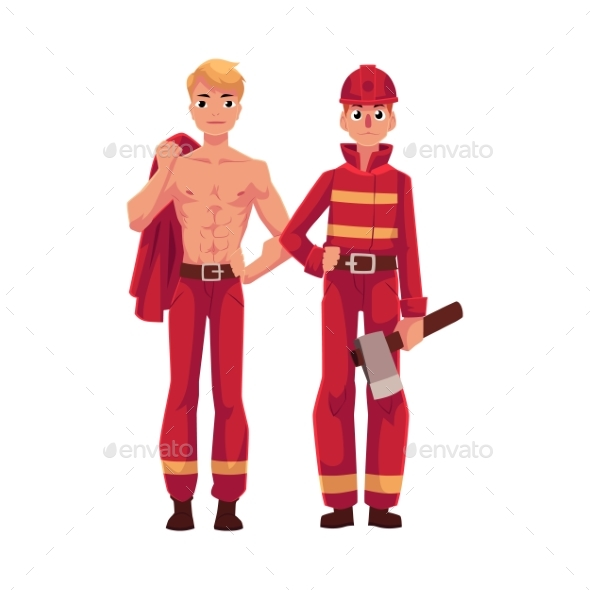 Two Firefighters - People Characters
