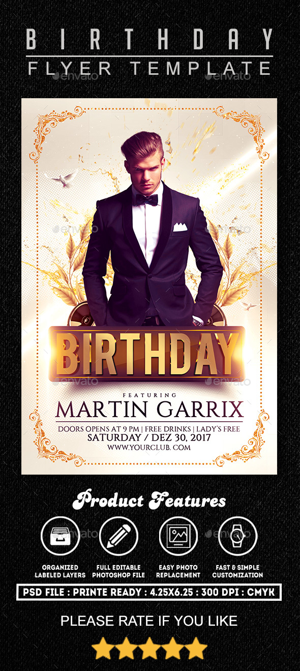 Birthday Flyer Template By Fasdesigner  Graphicriver