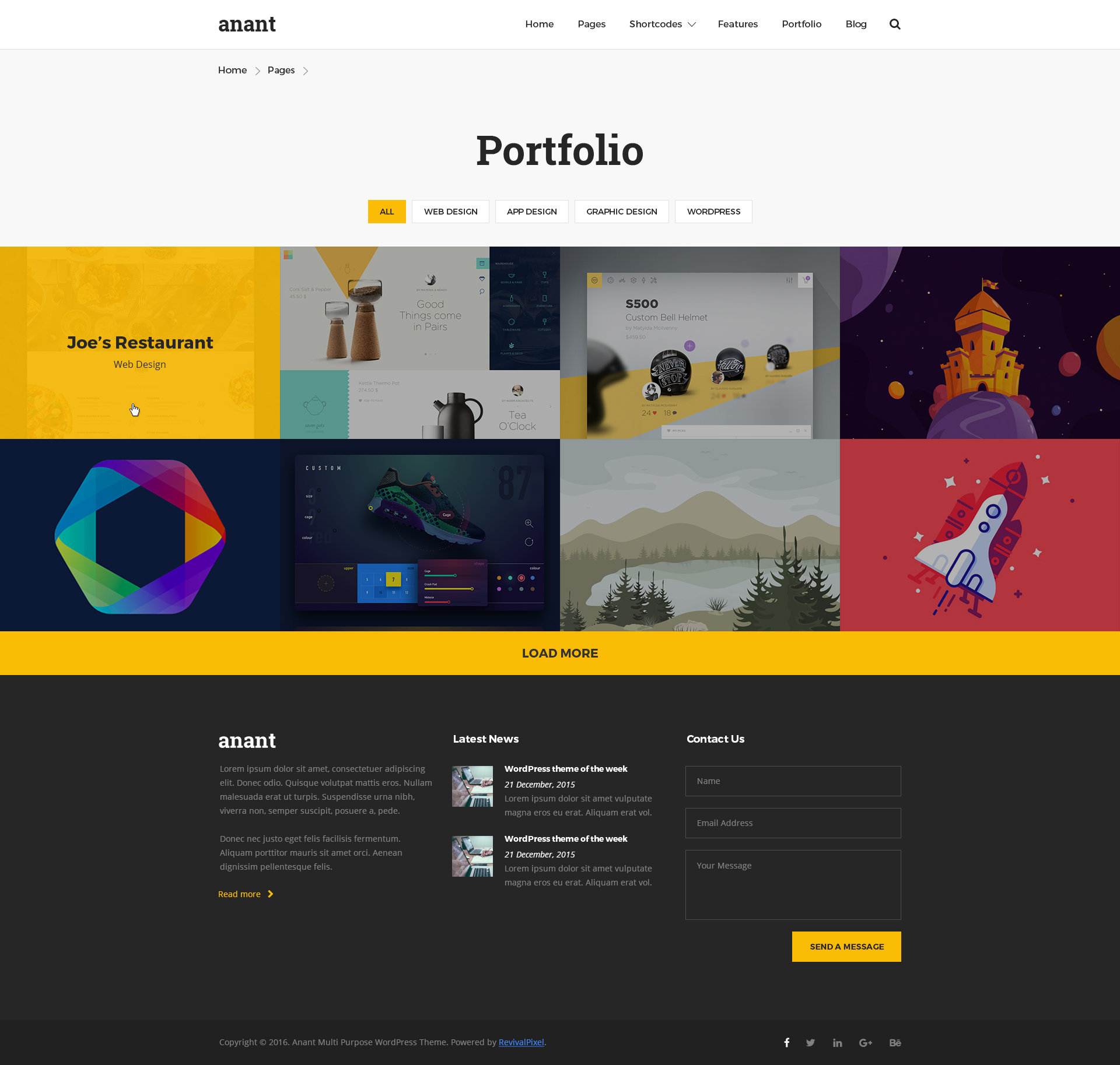 Anant | Multipurpose PSD Template by revivalpixel | ThemeForest