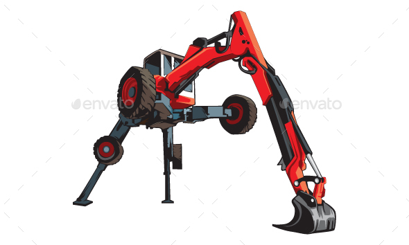 Spider Excavator - Man-made Objects Objects