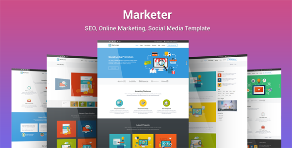Marketer – SEO, Online Marketing, Social Media Template