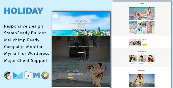 HOLIDAY – Responsive Email Template With Stamp Ready Builder Access