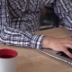 Man's Hands Using Laptop. - VideoHive Item for Sale