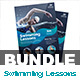 Swimming Lessons Flyer & Roll-Up Banner - GraphicRiver Item for Sale