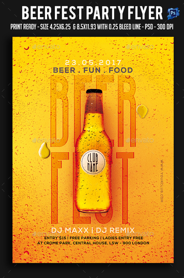 Beer Fest Party Flyer - Clubs & Parties Events